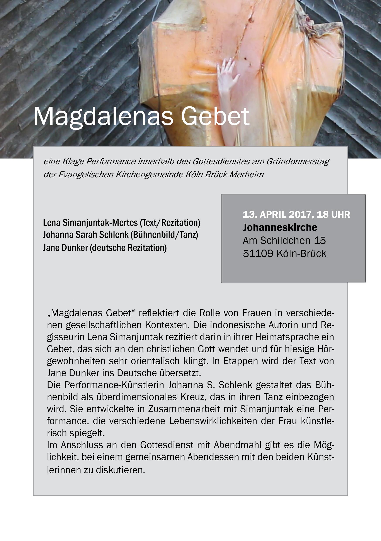 Flyer ausführliche Version Magdalenas Gebet